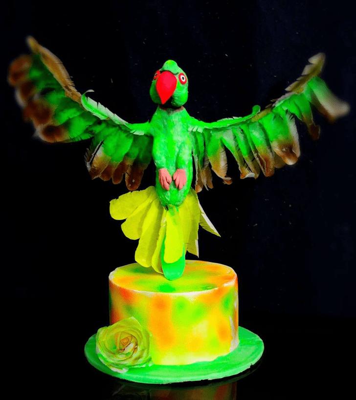 Lovely Parrot Cake Design