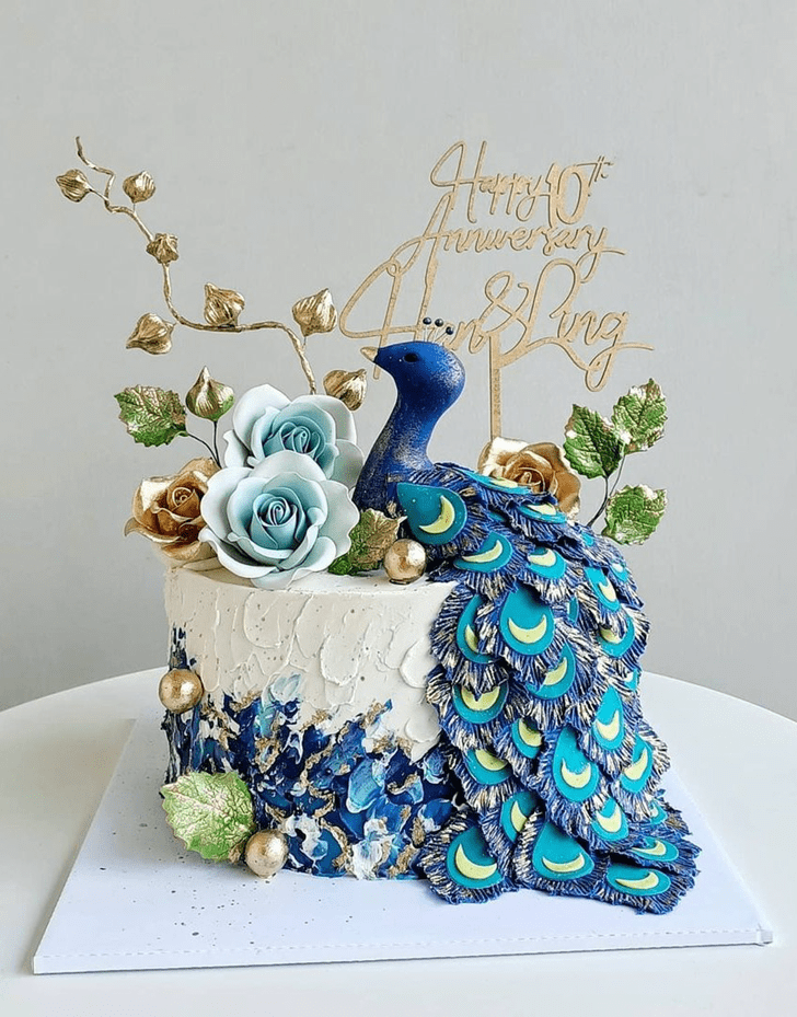 Appealing Peacock Cake
