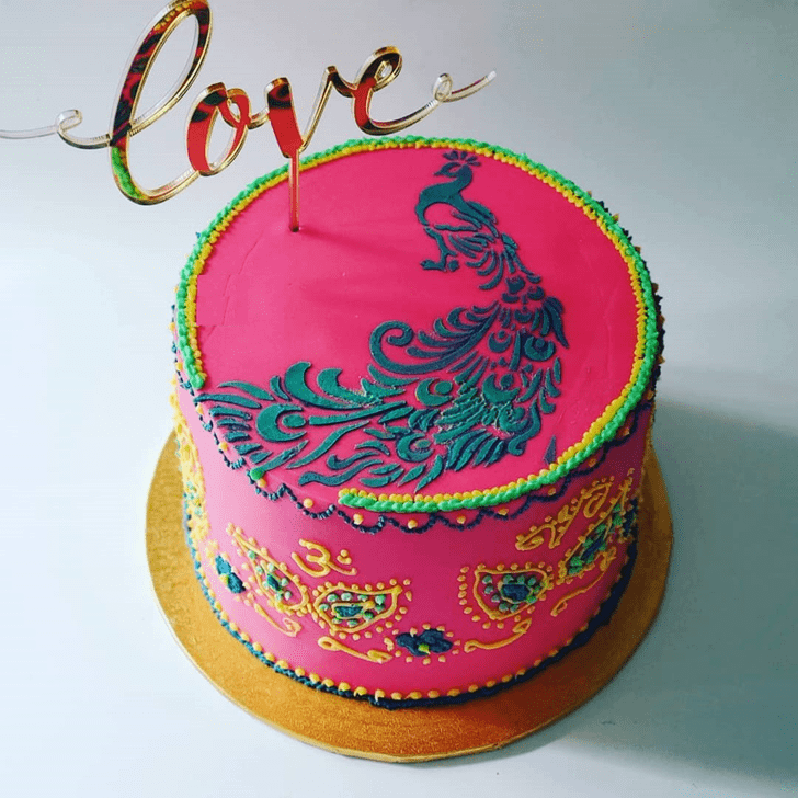 Captivating Peacock Cake