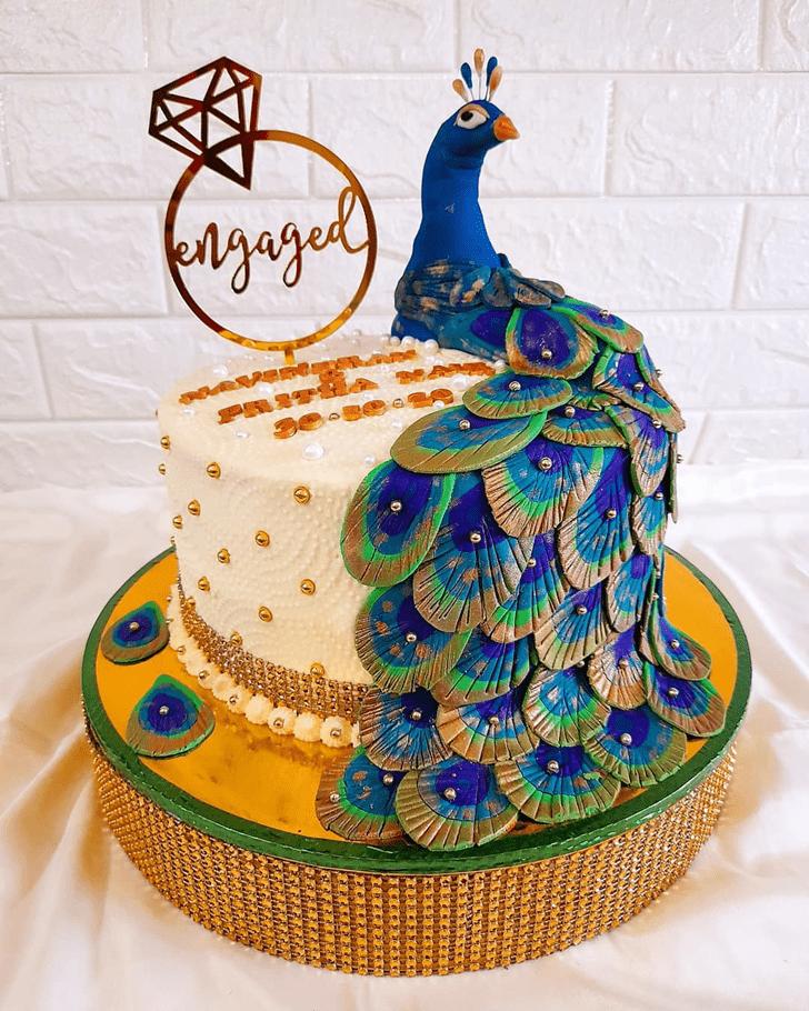 Charming Peacock Cake