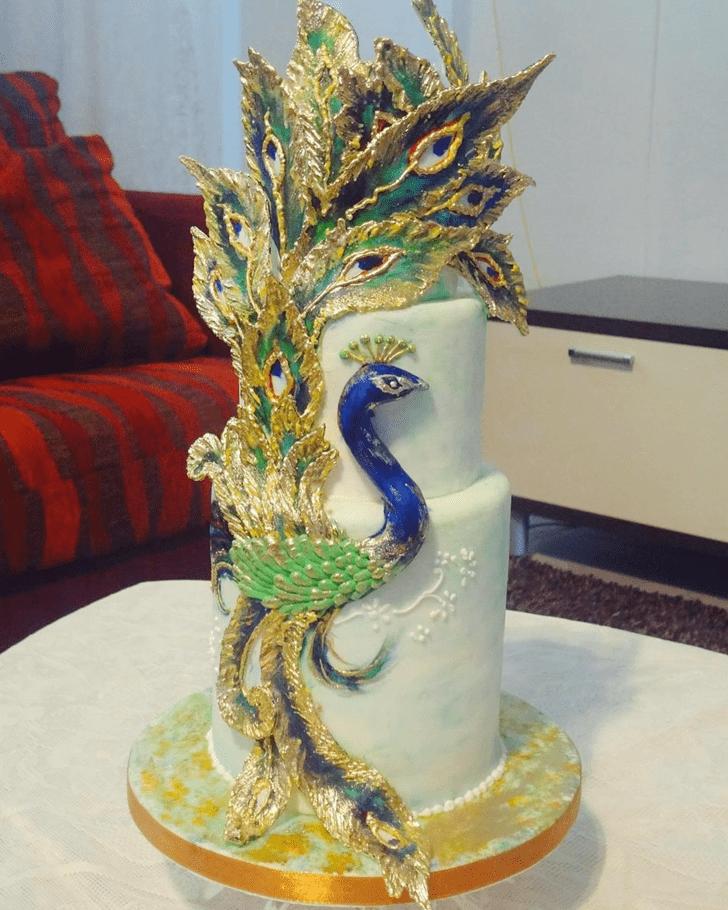 Classy Peacock Cake