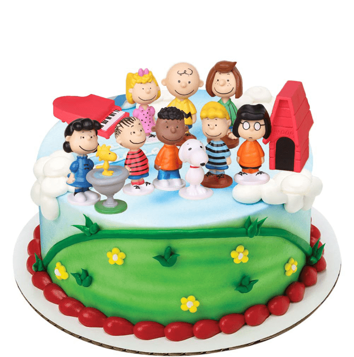 Adorable The Peanuts Movie Cake