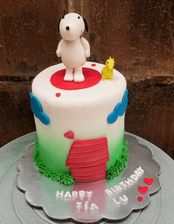 Lovely The Peanuts Movie Cake Design