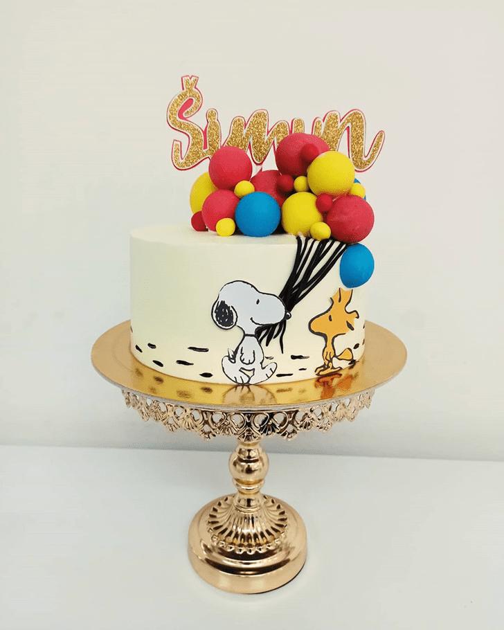 Resplendent The Peanuts Movie Cake