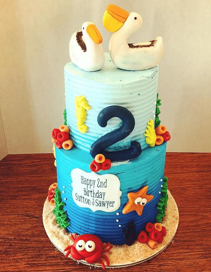 Appealing Pelican Cake