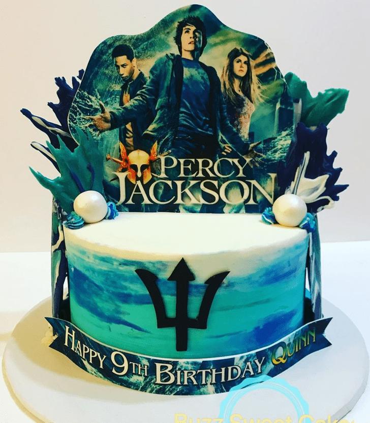Alluring Percy Jackson Cake
