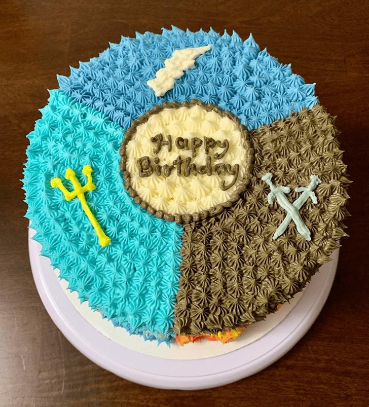 Appealing Percy Jackson Cake