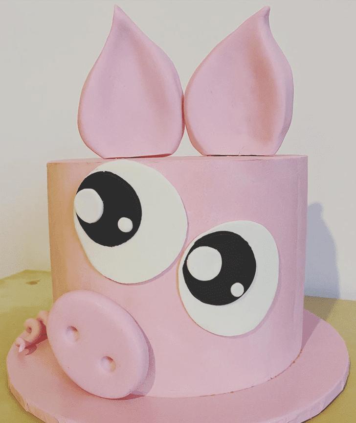 Adorable Pig Cake