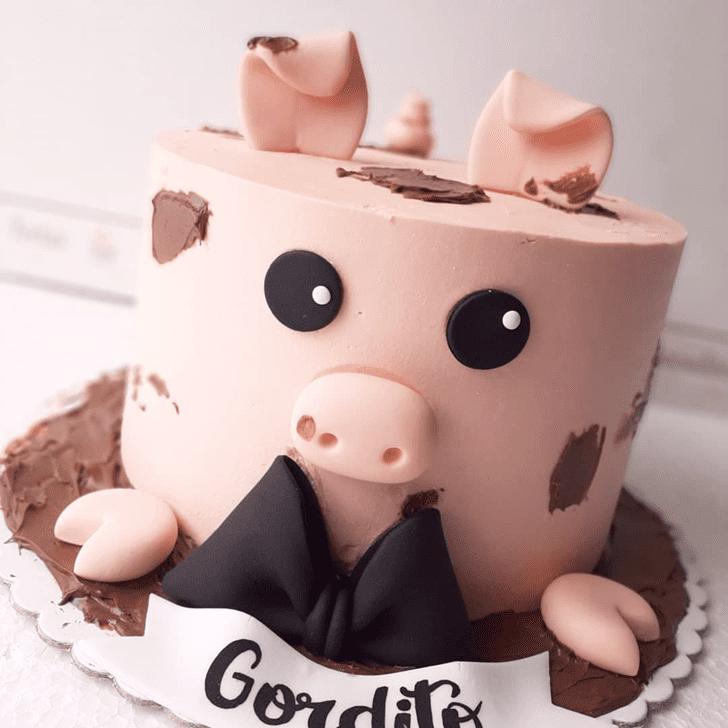 Pleasing Pig Cake