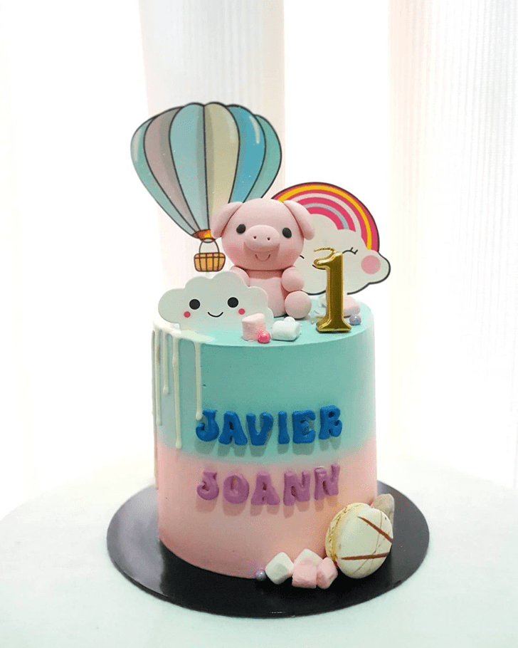 Elegant Piglet Cake