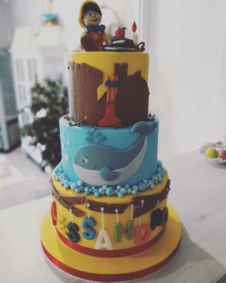 Wonderful  Pinocchio Cake Design