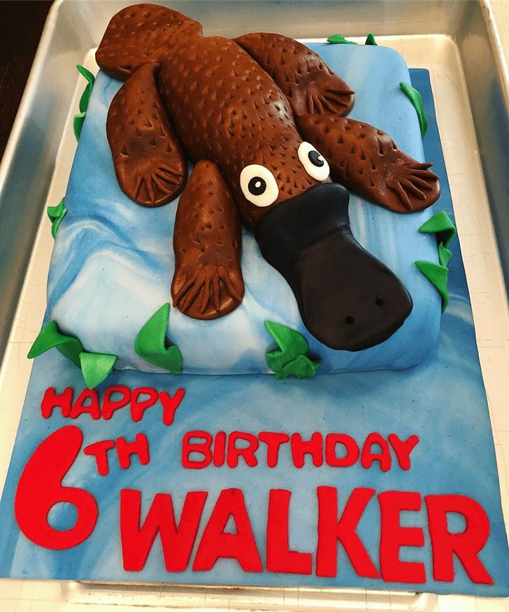 Appealing Platypus Cake