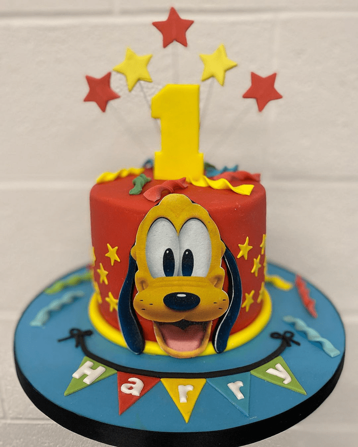 Appealing Disneys Pluto Cake