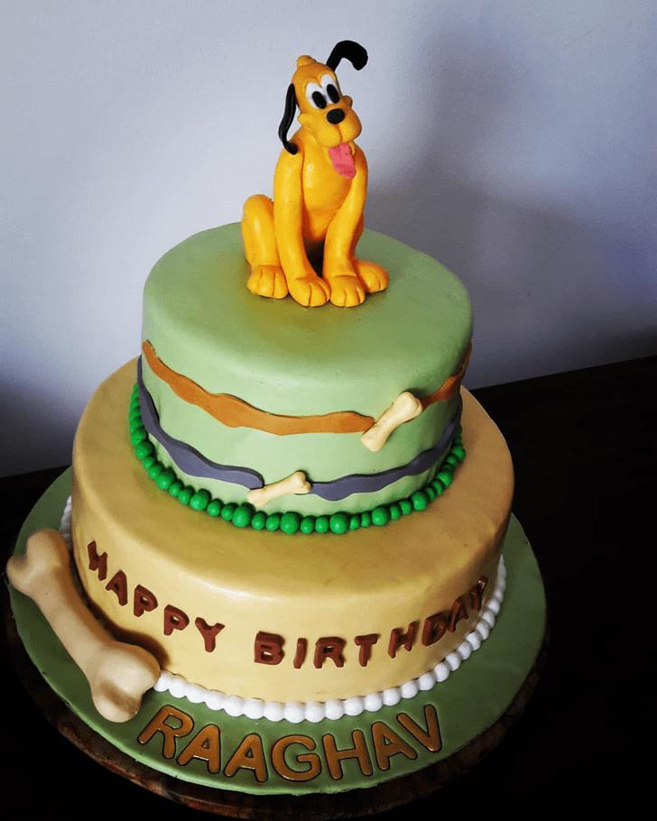 Delicate Disneys Pluto Cake