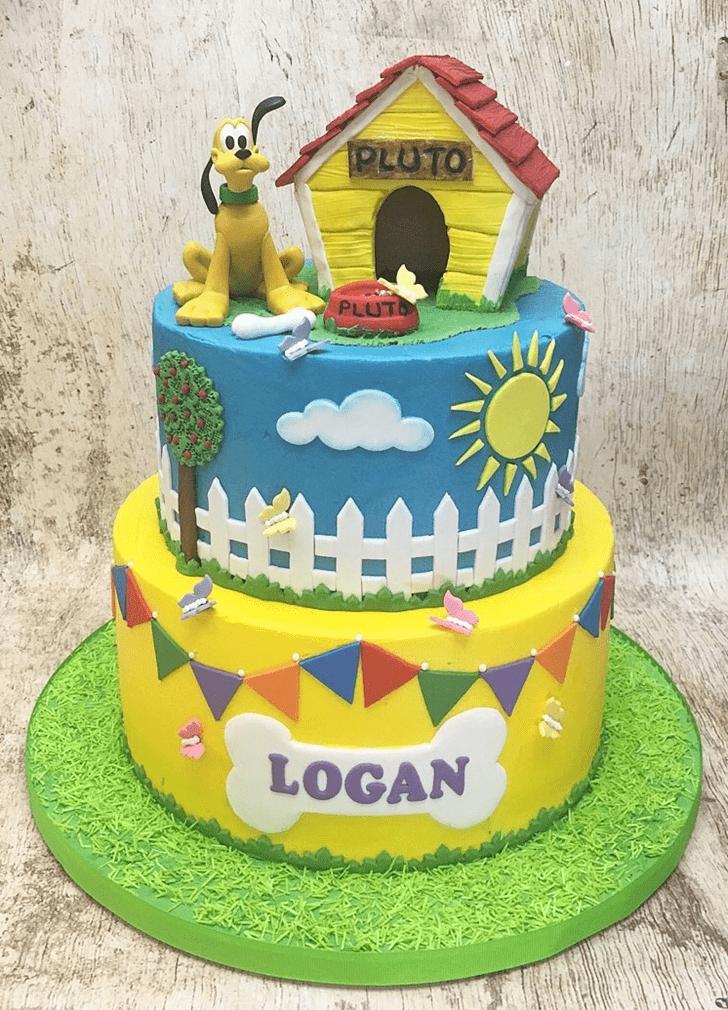 Elegant Disneys Pluto Cake