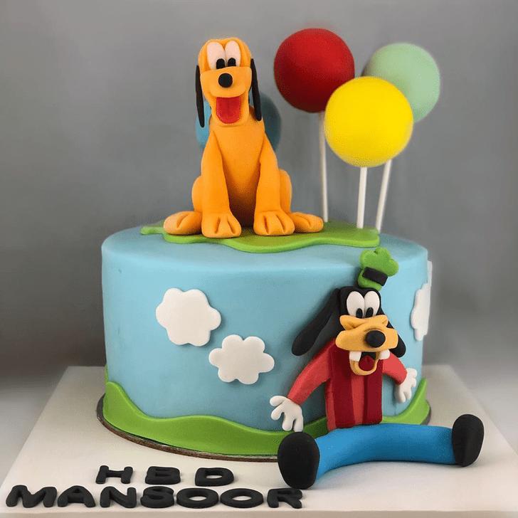 Fine Disneys Pluto Cake