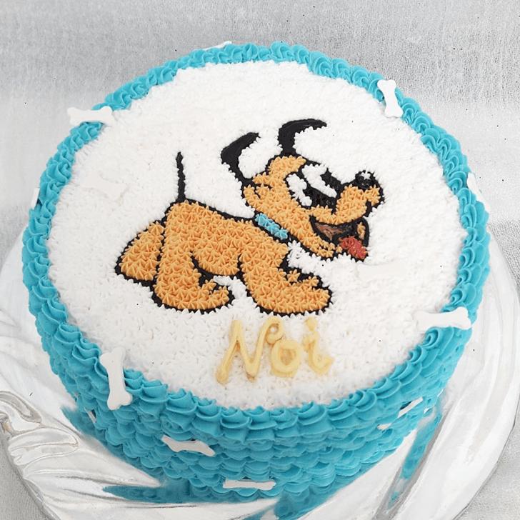 Gorgeous Disneys Pluto Cake