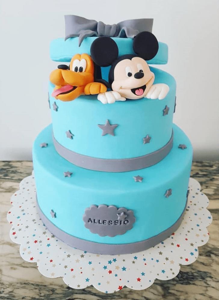 Lovely Disneys Pluto Cake Design