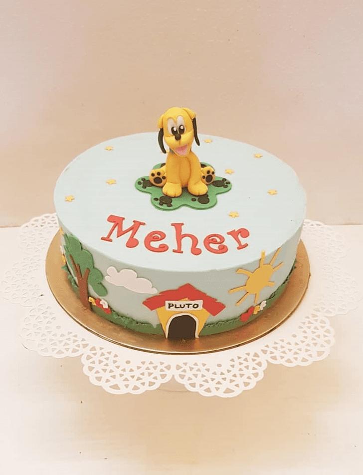 Slightly Disneys Pluto Cake