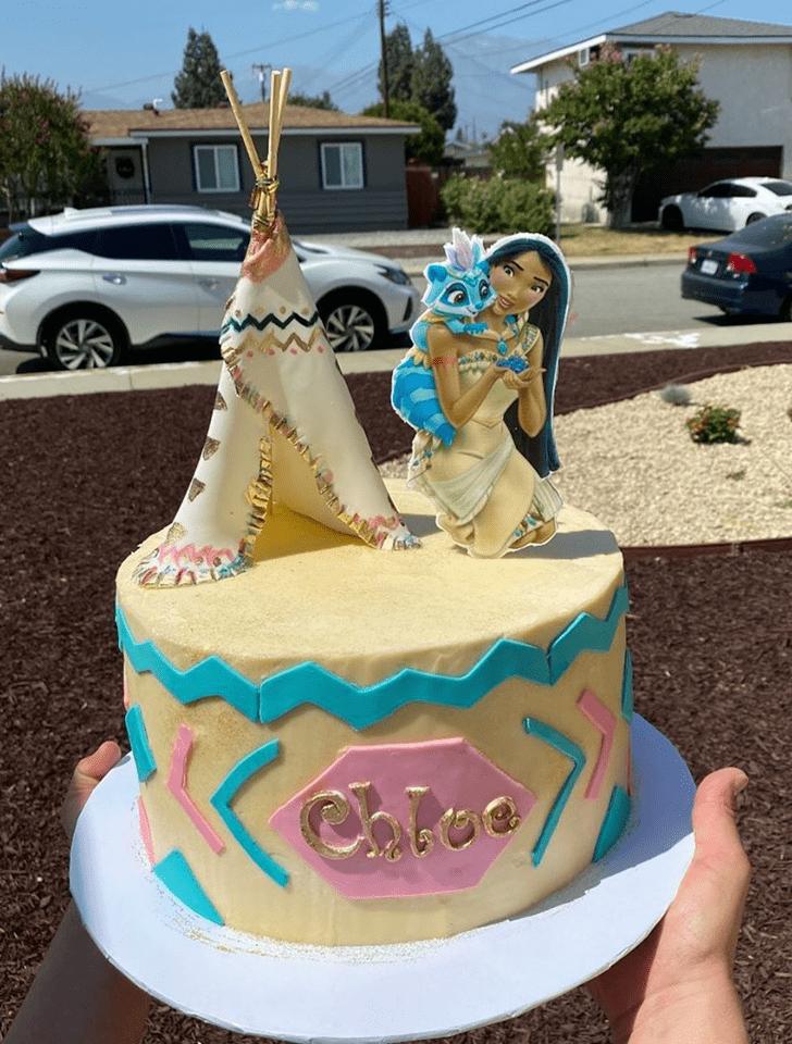 Adorable Pocahontas Cake