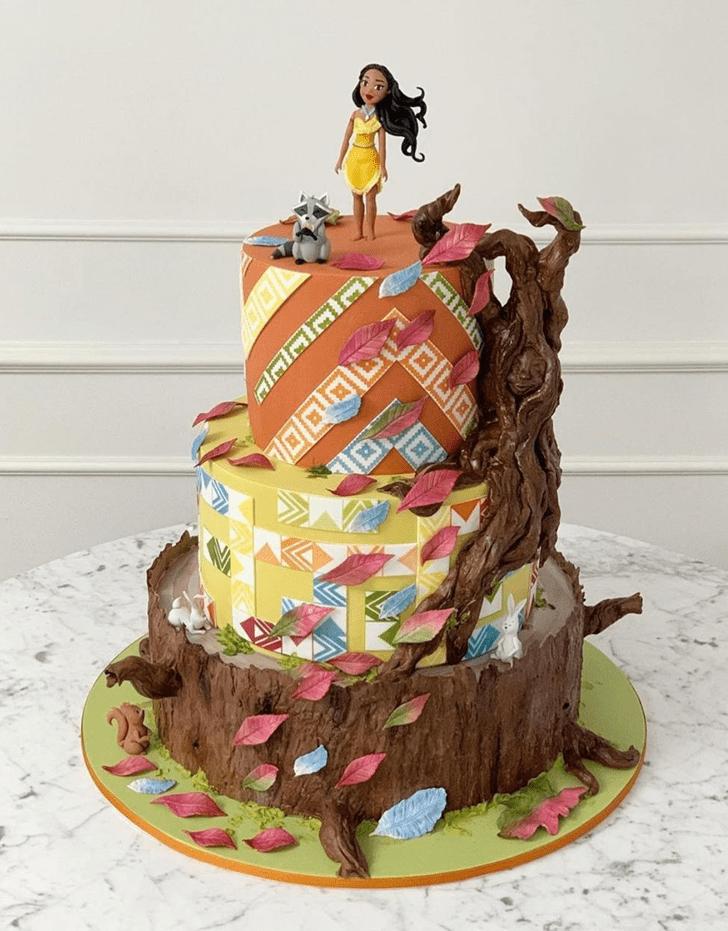 Angelic Pocahontas Cake