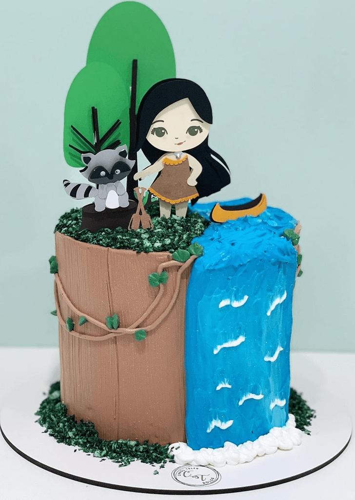 Dazzling Pocahontas Cake