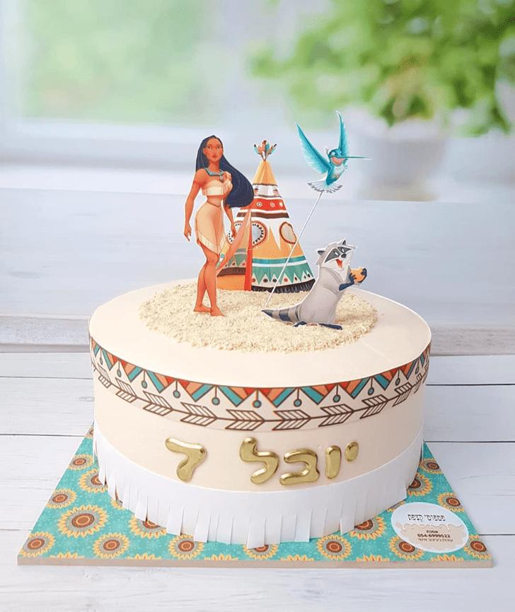 Pleasing Pocahontas Cake