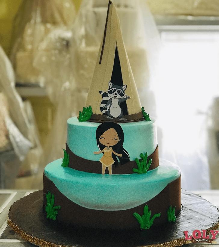 Pretty Pocahontas Cake