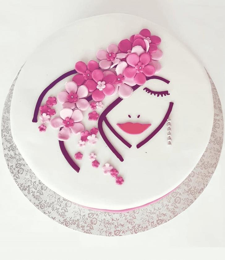 Appealing Pretty Woman Cake