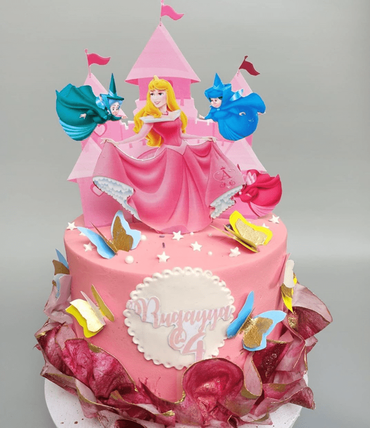 Excellent Princess Aurora Cake