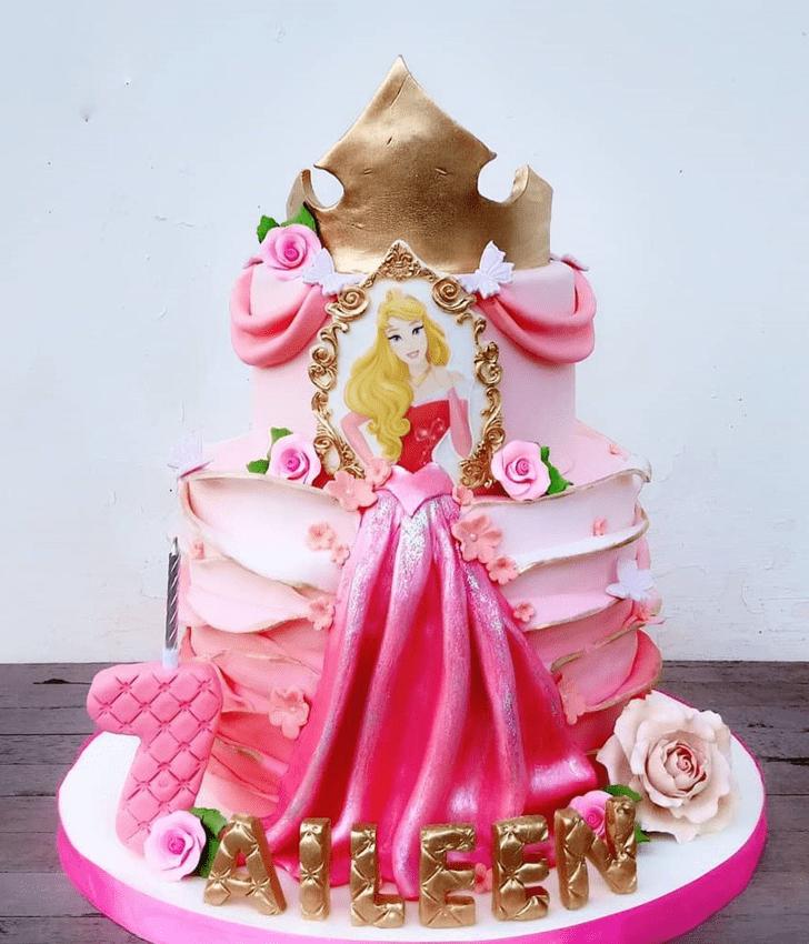 Exquisite Princess Aurora Cake