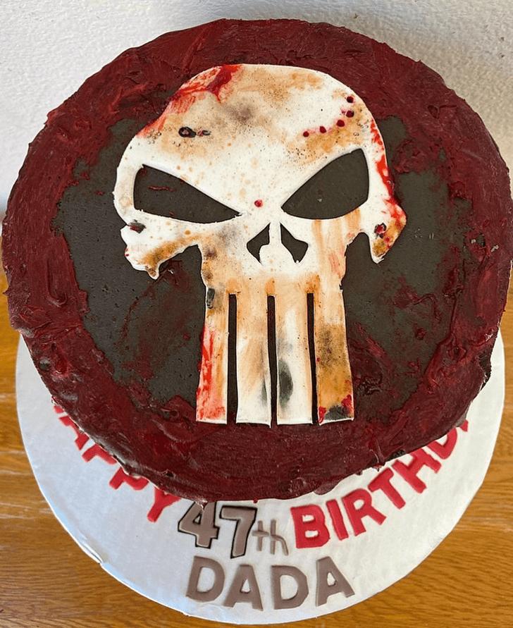 Alluring Punisher Cake