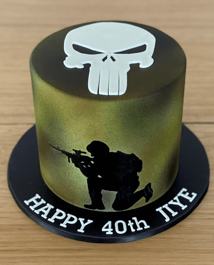 Appealing Punisher Cake