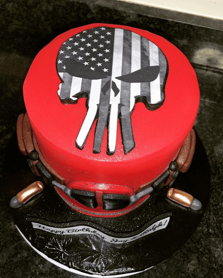 Inviting Punisher Cake