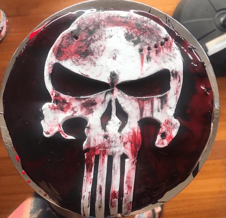 Lovely Punisher Cake Design