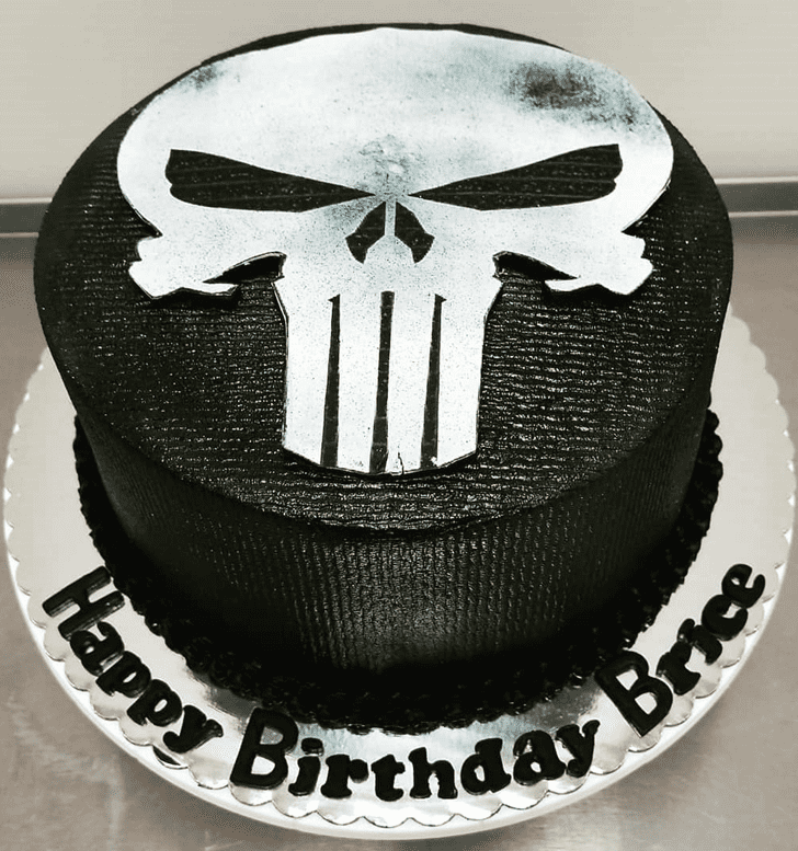 Pleasing Punisher Cake
