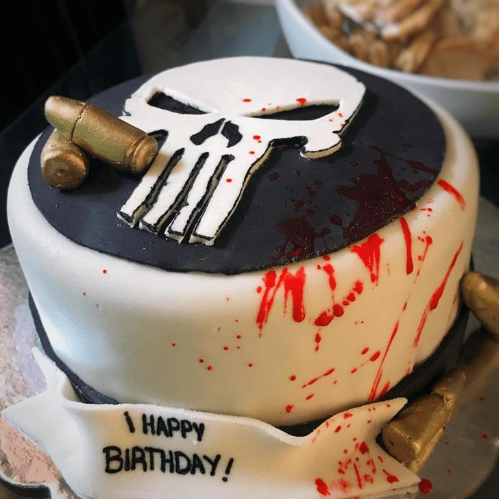 Resplendent Punisher Cake