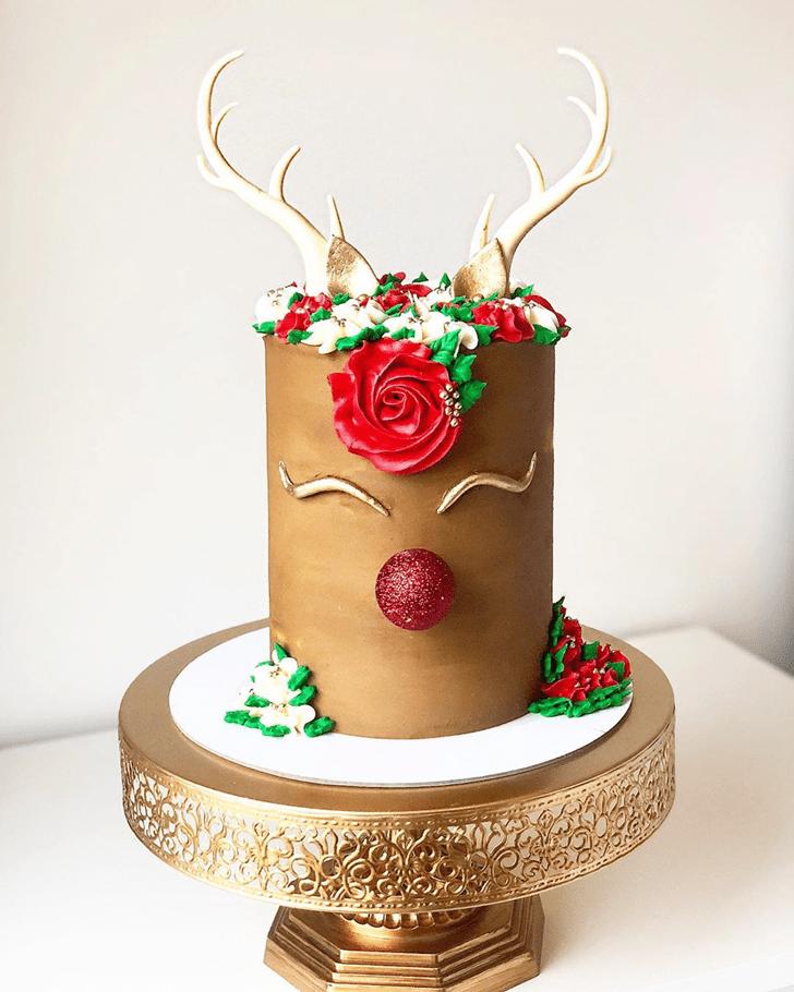 Angelic Reindeer Cake
