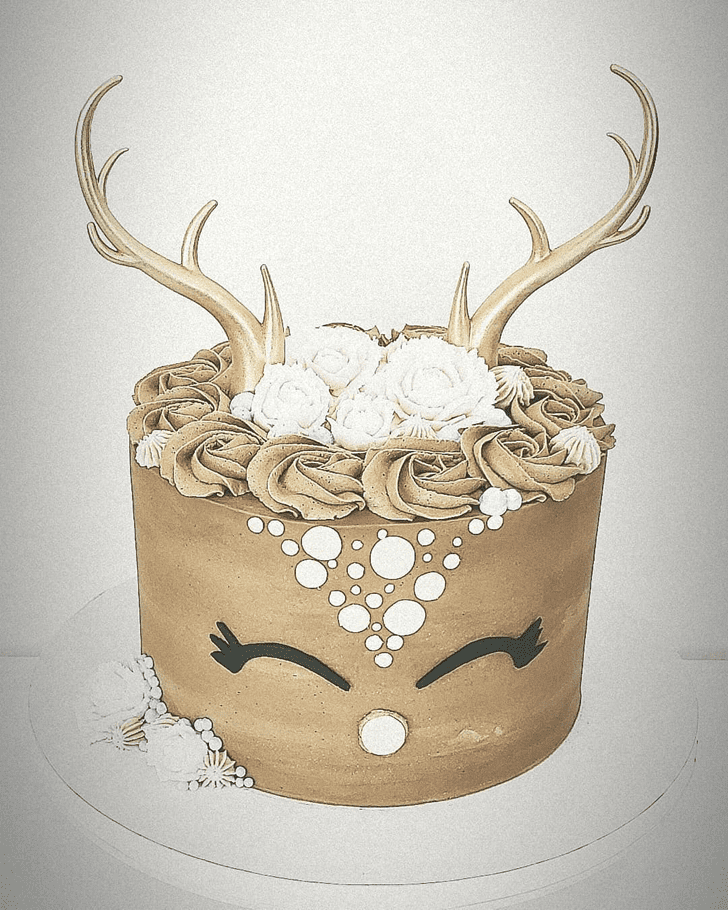 Appealing Reindeer Cake