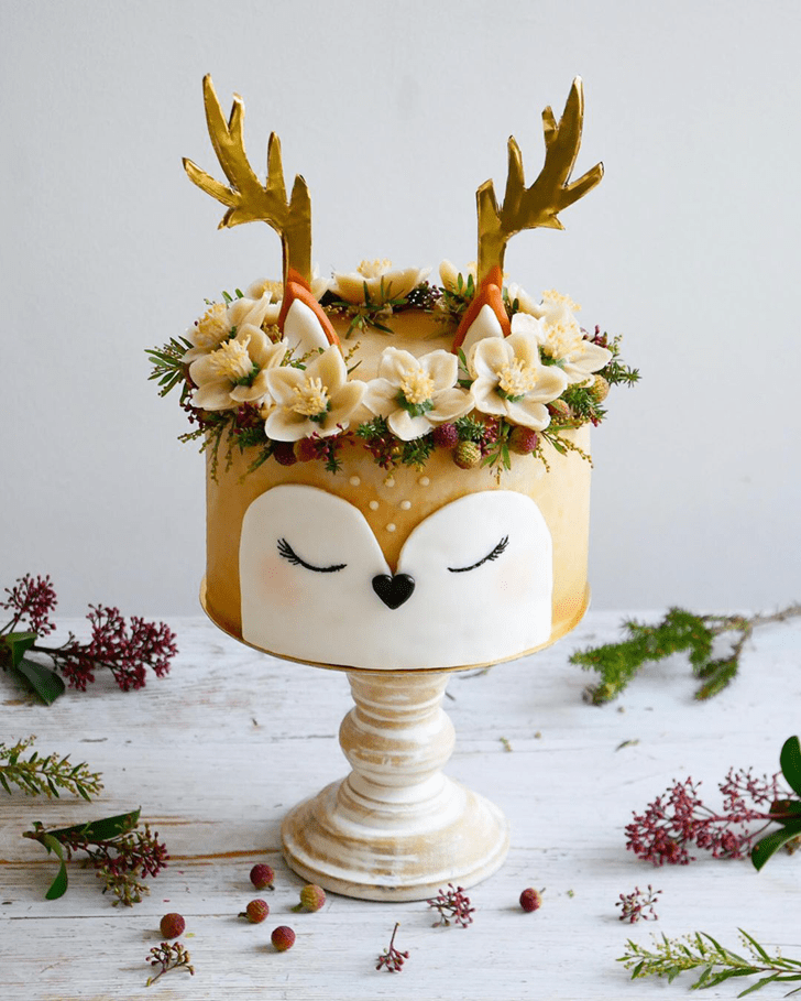 Classy Reindeer Cake