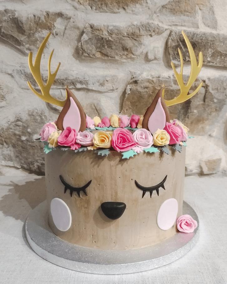 Delightful Reindeer Cake