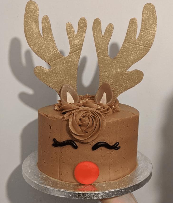 Good Looking Reindeer Cake
