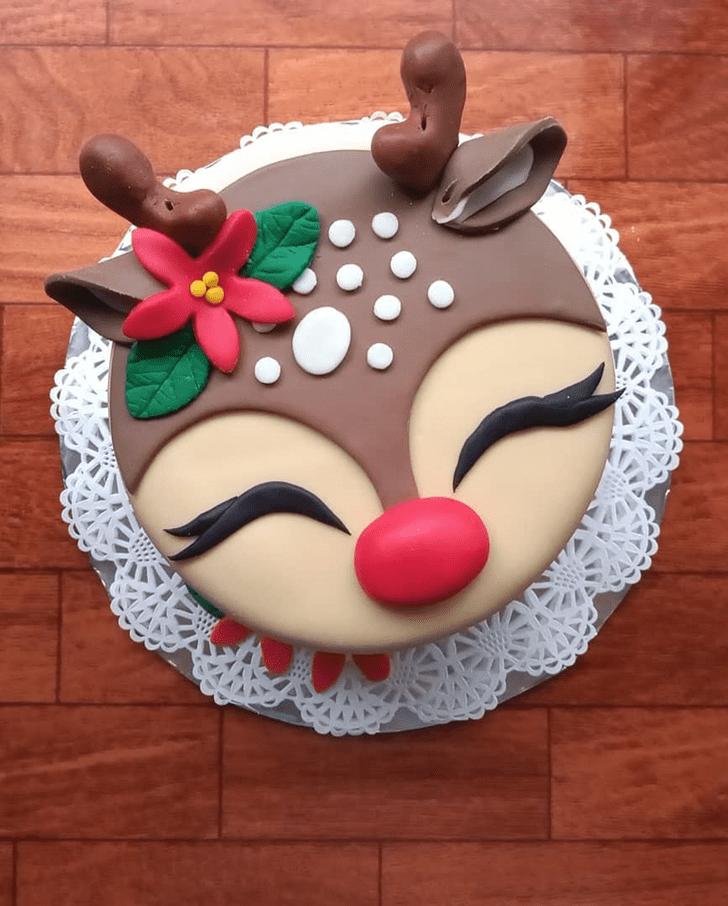 Graceful Reindeer Cake