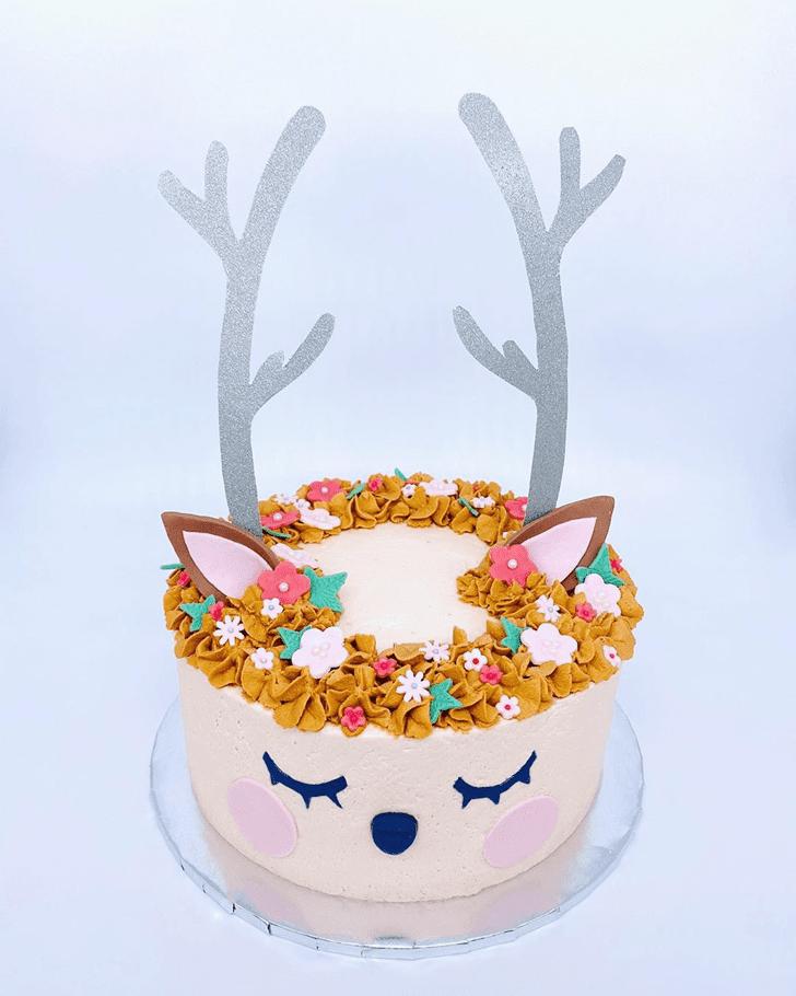 Handsome Reindeer Cake