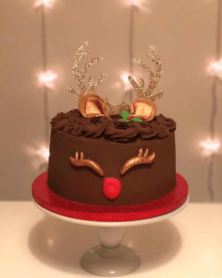 Nice Reindeer Cake