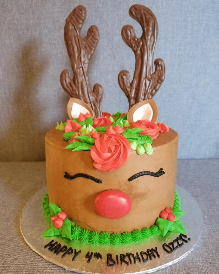 Radiant Reindeer Cake