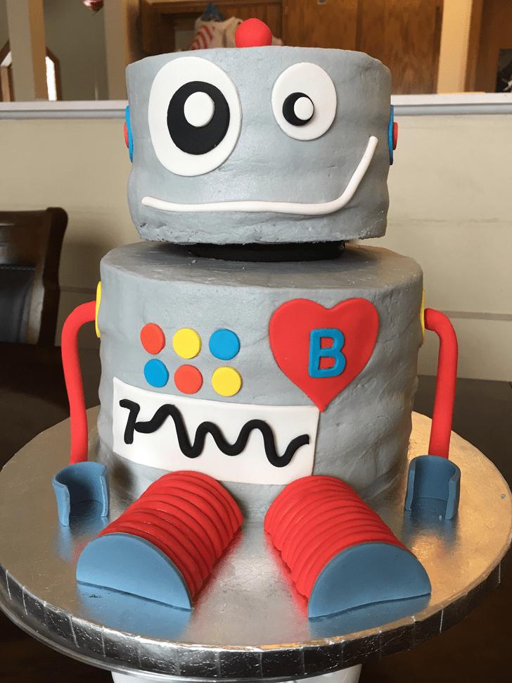 Adorable Robots Cake