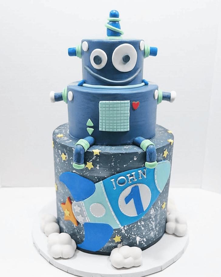 Alluring Robots Cake