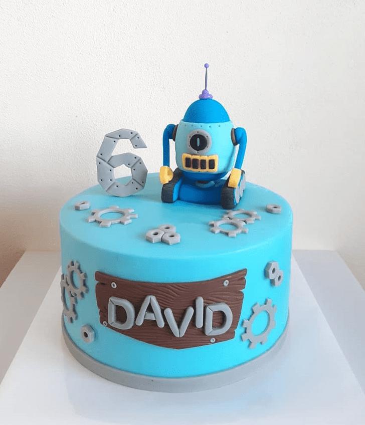 Beauteous Robots Cake