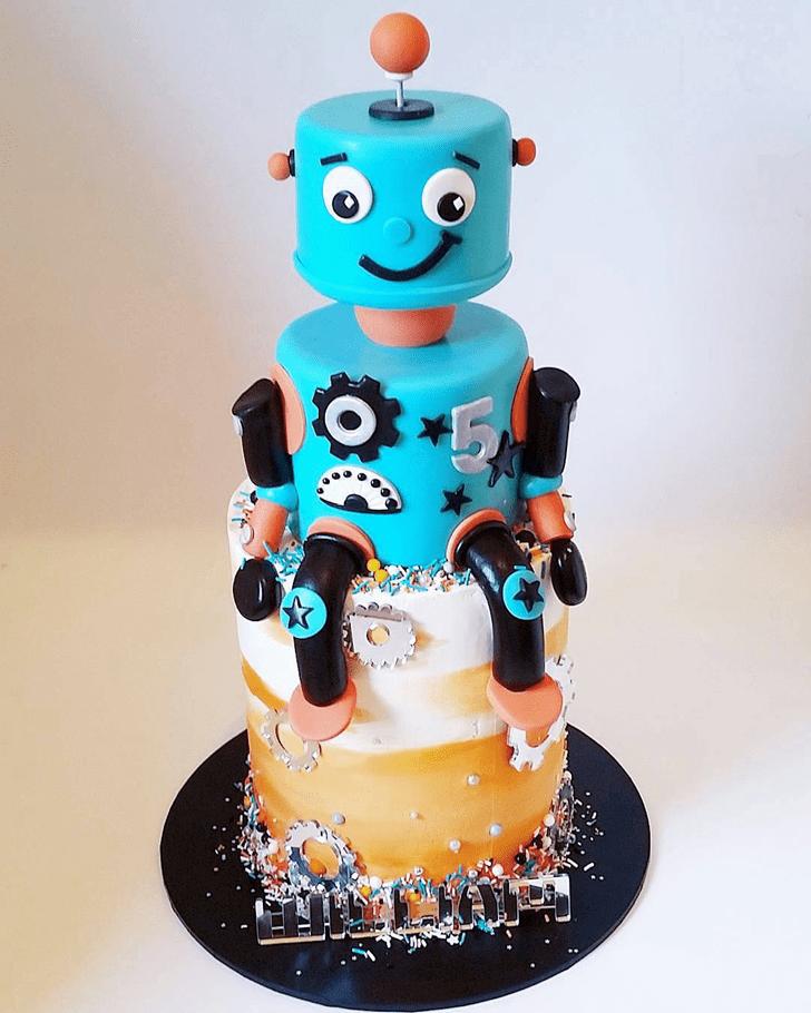 Captivating Robots Cake